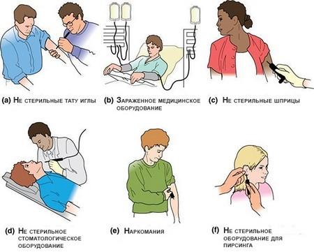 Гепатит Б (В): как передается, способы и пути его передачи
