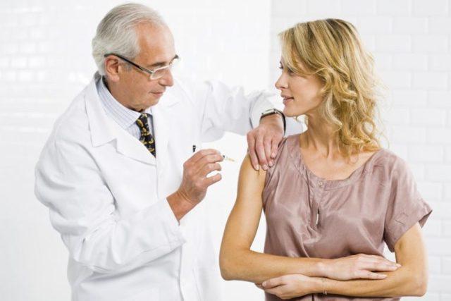 Реакция на прививку от гепатита В (Б)